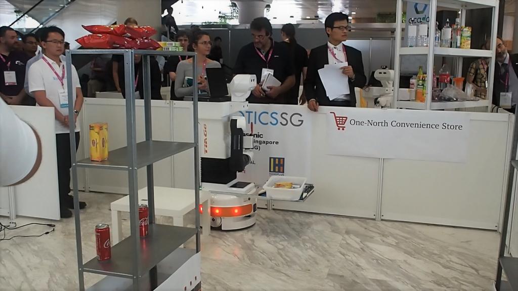 Robotics.SG Team Mobile Manipulation Hackathon TIAGo Robot